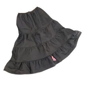 Black vintage tiered ruffle midi skirt Small